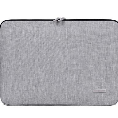 preiswerte Laptoptaschen-Nylon Reißverschluss Laptop Tasche Volltonfarbe Alltag Dunkelgrau / Hellgrau