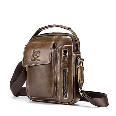 cheap BULLCAPTAIN®-(BULLCAPTAIN) Men's Shoulder Crossbody Sports Casual Leather Vertical Men's Shoulder Bag