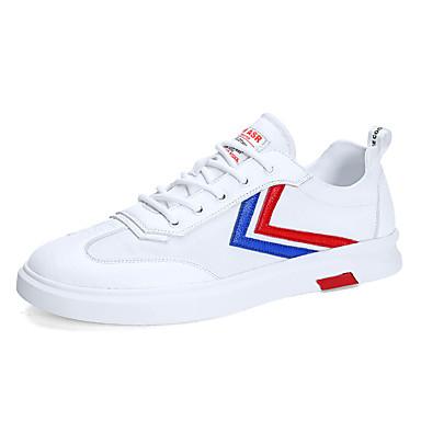 Ανδρικά Παπούτσια άνεσης Μικροΐνα Καλοκαίρι / Φθινόπωρο Αθλητικό / Καθημερινό Αθλητικά Παπούτσια Τρέξιμο / Περπάτημα Αναπνέει Μπότες στη Μέση της Γάμπας Λευκό / Μαύρο