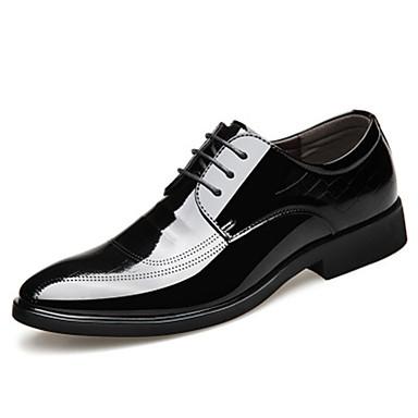 Ανδρικά Τα επίσημα παπούτσια Μικροΐνα Άνοιξη Oxfords Αναπνέει Μαύρο / Καφέ