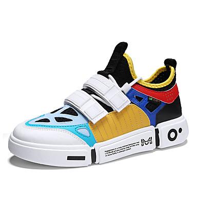 Ανδρικά Παπούτσια άνεσης Ελαστικό ύφασμα Καλοκαίρι Κλασσικό / Καθημερινό Αθλητικά Παπούτσια Αναπνέει Συνδυασμός Χρωμάτων Μαύρο / Μαύρο / Άσπρο / Λευκό / ΕΞΩΤΕΡΙΚΟΥ ΧΩΡΟΥ