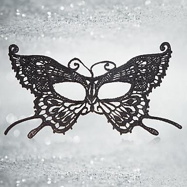 levne Masky-Halloweenské masky Masky maškarní Sexy krajková maska Textil Motýl Jídlo a nápoje Dospělé