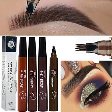 cheap Beauty & Hair-1pcs Microblading Eyebrow Pen Waterproof Fork Tip Eyebrow Tattoo Pencil Long Lasting Professional Fine Sketch Liquid Eye Brow Pencil