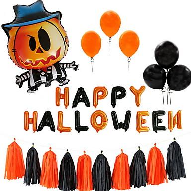 Decorações de férias Férias e Cumprimentos Halloween Entertaining Festa Preto 10pçs