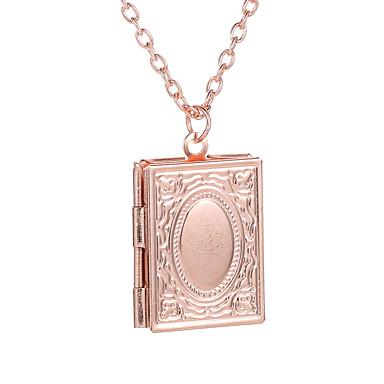 levne Pánské šperky-Pánské Dámské Náhrdelník Chrome Černá / šedá Růžové zlato Zlatá Stříbrná 53 cm Náhrdelníky Šperky 1ks Pro Dovolená