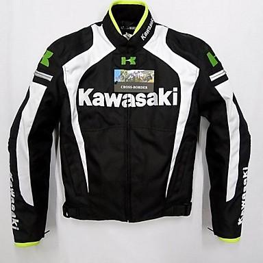 billige Motorsykkel & ATV tilbehør-kawasaki motorsykkel klesjakke for herre bomull / polyester blanding vår og høst / vinter / høstbeskyttelse / beste kvalitet / pustende / avtakbare
