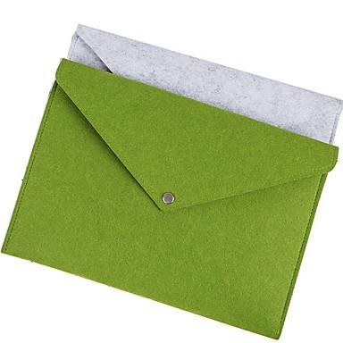 preiswerte Laptoptaschen-Kunstpelz Knöpfe Laptop Tasche Volltonfarbe Alltag Grün