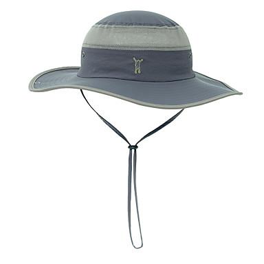 Boonie καπέλο 1 τμχ Φορητό Αντιανεμικό Κατά της ακτινοβολίας Άνετο Patchwork Τερυλίνη Φθινόπωρο για Ανδρικά Γυναικεία Κατασκήνωση / Πεζοπορία / Εξερεύνηση Σπηλαίων Ταξίδι Μπλε