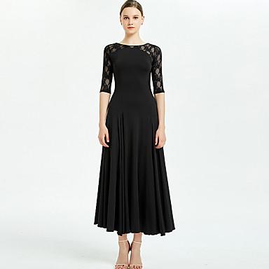 Επίσημος Χορός Φορέματα Γυναικεία Εκπαίδευση / Επίδοση Mohair Δαντέλα / Διαφορετικά Υφάσματα Μισό Μανίκι Φόρεμα