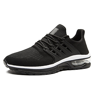 Ανδρικά Παπούτσια άνεσης PU / Φουσκωτό πηνίο Καλοκαίρι Αθλητικό Αθλητικά Παπούτσια Τρέξιμο Μη ολίσθηση Μαύρο / Γκρίζο / Κόκκινο