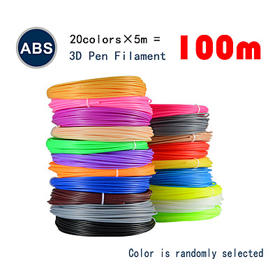 myriwell abs 1.75mm filament 20colors 5m slučajne boje odabrane 3d tiskane pcl 1.75mm 3d olovke plastične 3d pisač nit 3d pens abs sigurnost okoliša