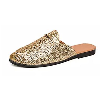 Ανδρικά Παπούτσια άνεσης PU Καλοκαίρι Σαμπό & Mules Μαύρο / Χρυσό / Ασημί