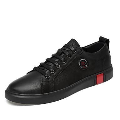 Ανδρικά Δερμάτινα παπούτσια Συνθετικά Άνοιξη / Φθινόπωρο Αθλητικά Παπούτσια Αναπνέει Λευκό / Μαύρο