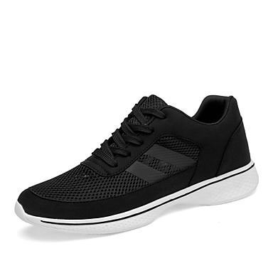 Ανδρικά Παπούτσια άνεσης Δίχτυ Φθινόπωρο / Ανοιξη καλοκαίρι Αθλητικό / Καθημερινό Αθλητικά Παπούτσια Τρέξιμο / Περπάτημα Μη ολίσθηση Μαύρο / Φορέστε την απόδειξη