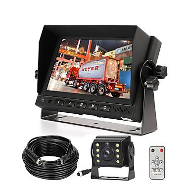 preiswerte Automobil-Wired Ahd-Backup-Kamera-Monitor-Kit für LKW / Auflieger / Kasten-LKW / Wohnmobil / Wohnmobil / Bus / Van / Bauernhof Mach / Wohnmobil / 5. Rad HD 7-Zoll-Digital-TFT-Monitor Ahd-Mini-Kamera