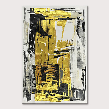 povoljno Ulja na platnu-Hang oslikana uljanim bojama Ručno oslikana - Sažetak Pop art Moderna Uključi Unutarnji okvir
