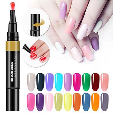 cheap Nail Care & Polish-24 Colors 3 In 1 Gel Nail Polish Pen Nail Art Tips UV Gel Varnish Hybrid One Step Sugar Nails Glue No Need Top Base Coat