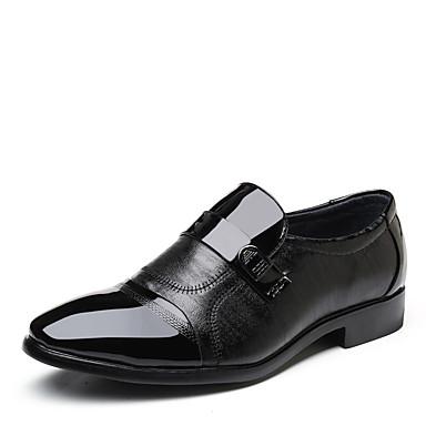 Homens Sapatos formais Microfibra Primavera Verão Negócio Mocassins e Slip-Ons Use prova Preto / Escritório e Carreira