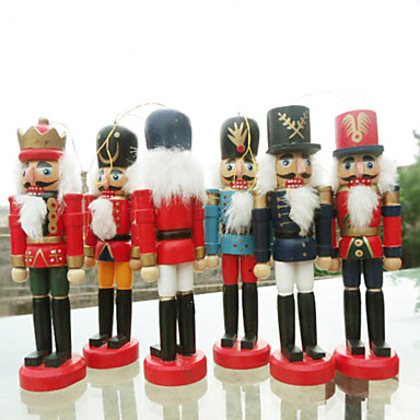 Yiwu ho107054117d Christmas Nutcracker Mini Puppet Toy Man 6stk / sett