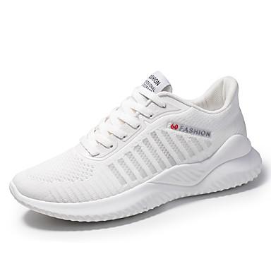 Homens Sapatos Confortáveis Com Transparência Outono / Primavera Verão Esportivo / Casual Tênis Corrida Respirável Preto / Branco / Azul / Absorção de choque