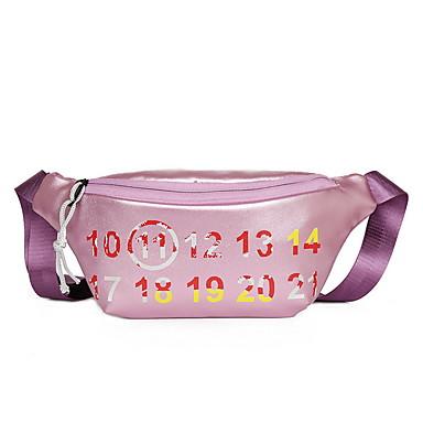 Γυναικεία Φερμουάρ PU Sling Τσάντες ώμου Μαύρο / Ανθισμένο Ροζ / Χρυσό