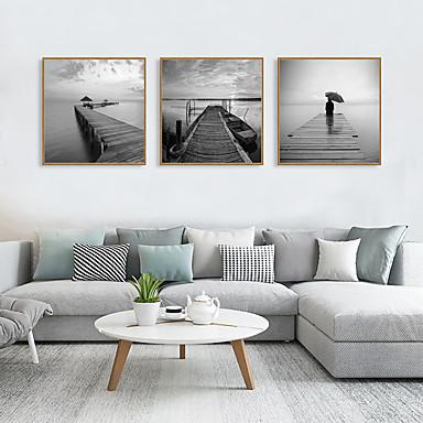 Impressão de Arte Emoldurada Conjunto Emoldurado - Paisagem Aquático & Náutico Poliestireno Fotografias Arte de Parede