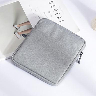 preiswerte Laptoptaschen-Segeltuch Reißverschluss Laptop Tasche Volltonfarbe Alltag Grau / Hellgrau / Rosa