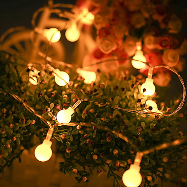 Tatuo Halloween Decoration 30 LED String Lights Battery Operated String Lights for Halloween Christmas Party Patio Lawn Garden Home Style 1 Assorted Colors
