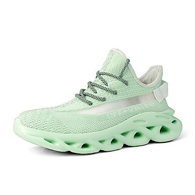 Homens Sapatos Confortáveis Com Transparência Outono / Primavera Verão Esportivo / Casual Tênis Corrida Respirável Preto / Marron / Branco / Absorção de choque