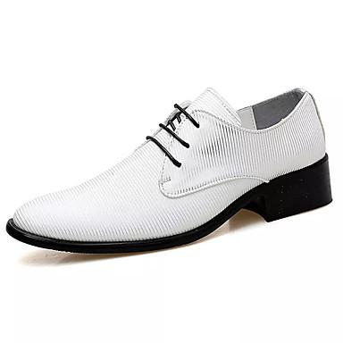 Ανδρικά Παπούτσια άνεσης PU Καλοκαίρι Oxfords Λευκό / Μαύρο / Κόκκινο / Πάρτι & Βραδινή Έξοδος