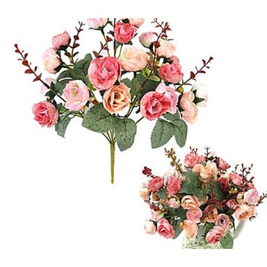 Yiwu pho_09s8 [Sørøst-Asia] kunstig blomst 21 roser hjem dekorasjon hjemmefest bryllup dekorasjon 1 rose rød