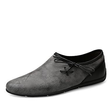 Ανδρικά Παπούτσια άνεσης Βαμβάκι Καλοκαίρι Μοκασίνια & Ευκολόφορετα Αναπνέει Γκρίζο / Χακί