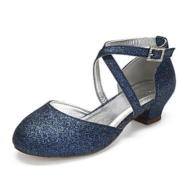 preiswerte Schuhe für Kinder-Mädchen Schuhe für das Blumenmädchen / Tiny Heels für Teens Kunststoff High Heels Kleine Kinder (4-7 Jahre) / Große Kinder (ab 7 Jahren) Strass / Glitter Silber / Champagner / Elfenbein Frühling