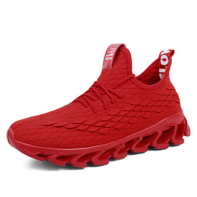 Men's Comfort Shoes Tissage Volant Spring & Summer / Fall & Winter Casual Athletic Shoes Breathable Black / Red / Gray