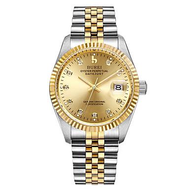 levne Pánské-Pánské mechanické hodinky Automatické natahování Nerez 30 m Voděodolné Hodinky na běžné nošení Analogové Na běžné nošení Módní - Zlatá Jeden rok Životnost baterie