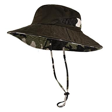 Boonie καπέλο 1 τμχ Φορητό Αντιανεμικό Κατά της ακτινοβολίας Άνετο καμουφλάζ Βαμβάκι Φθινόπωρο για Ανδρικά Γυναικεία Κατασκήνωση / Πεζοπορία / Εξερεύνηση Σπηλαίων Ταξίδι Σκούρο μπλε