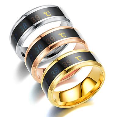 Ανδρικά Γυναικεία Band Ring Δαχτυλίδι Δαχτυλίδι ουράς 1pc Ασημί Μπλε Χρυσό Τριανταφυλλί Ανοξείδωτο Ατσάλι Τιτάνιο Ατσάλι Κυκλικό Βασικό Μοντέρνα Δώρο Καθημερινά Κοσμήματα Numbăr Απίθανο