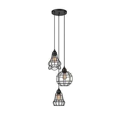 cluster lysekrone 3 lamper justerbar anheng taklampe rustikk anheng lysarmaturer kabinetter design taklamper