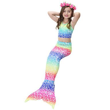 cheap Girls' Swimwear-Kids Girls' Cute Rainbow Swimwear Rainbow