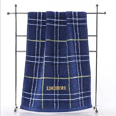 Overlegen kvalitet Vaskehåndklæ, Rutet 100% bomull Baderom 1 pcs