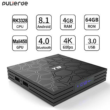 t9 tv κιβώτιο καιroid 8.1 wifi 4GB 64GB τηλεόραση κουτί bluetooth 4.0 rk3328 τετραπλού πυρήνα έξυπνο tv κουτί που κορυφή Android 8.1 κουτί