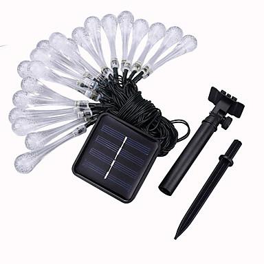 5 m Lysslynger 20 LED 1Sett monteringsbrakett Varm hvit Solar / Fest / Dekorativ Soldrevet 1set