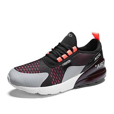 Ανδρικά Παπούτσια άνεσης Δίχτυ / PU Καλοκαίρι Αθλητικό Αθλητικά Παπούτσια Τρέξιμο Μη ολίσθηση Συνδυασμός Χρωμάτων Κρασί / Μαύρο / Κόκκινο / Μαύρο / Πράσινο