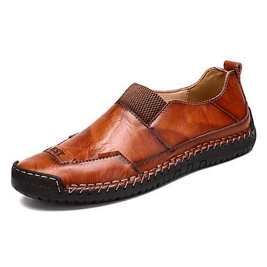 Ανδρικά Παπούτσια άνεσης Δέρμα Ανοιξη καλοκαίρι / Φθινόπωρο & Χειμώνας Κλασσικό / Βρετανικό Μοκασίνια & Ευκολόφορετα Αναπνέει Gradient Μαύρο / Καφέ / Πάρτι & Βραδινή Έξοδος