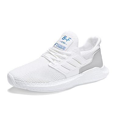Ανδρικά Παπούτσια άνεσης PU / Φουσκωτό πηνίο Καλοκαίρι Αθλητικό Αθλητικά Παπούτσια Μη ολίσθηση Μαύρο / Λευκό / Γκρίζο