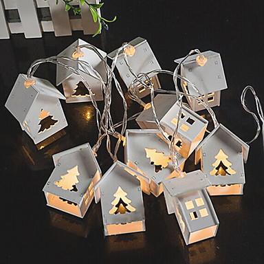 Yiwu ho10705076j410led trehus juletre lysstreng varmt hvitt lysbatteri