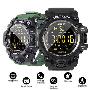 dm02 smart watch sport passometer melding påminnelse ip68 vanntett bluetooth menn / kvinner smartwatch for ios og android