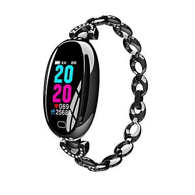 e68 έξυπνες γυναίκες ρολογιών 0.96 ιντσών οθόνη καρδιακού ρυθμού ip67 αδιάβροχο αθλητισμό fitness βραχιόλι 14 ημέρες αναμονής υγείας wristband