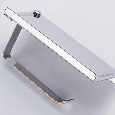 Toalettrullholder Kreativ / Multifunktion Moderne Rustfritt Stål 1pc Vægmonteret