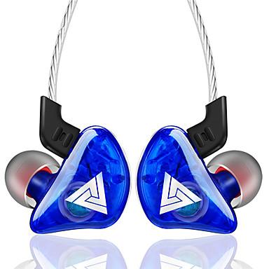 litbeset qkz ck5 i hodetelefoner med øretelefoner, øretelefoner, silikagel, øretelefoner, stereohodesett